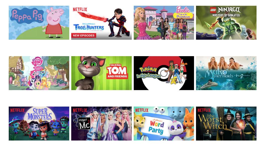 القائمة الكاملة لعروض الأطفال Netflix باللغة العربية